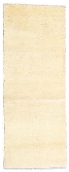 Gabbeh Persan Tapis 80X205 Moderne Fait Main Tapis Couloir Jaune/Blanc/Crème (Laine, Perse/Iran)