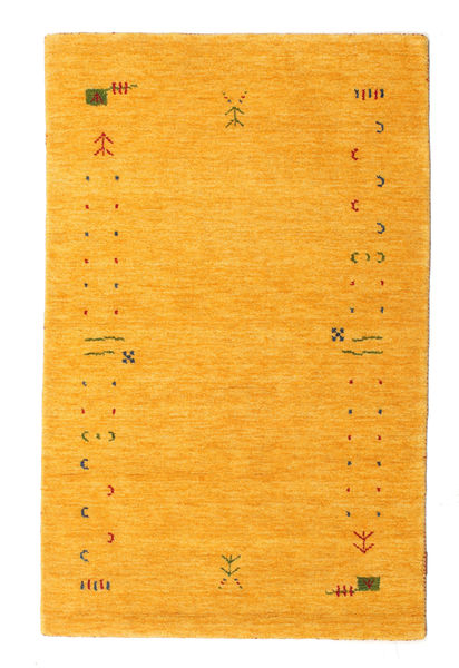 Gabbeh Loom Frame - Jaune Tapis 100X160 Moderne Jaune/Orange (Laine, Inde)