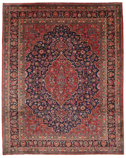 Mashad Tapis 312X395 D'orient Fait Main Rouge Foncé/Marron Foncé Grand (Laine, Perse/Iran)