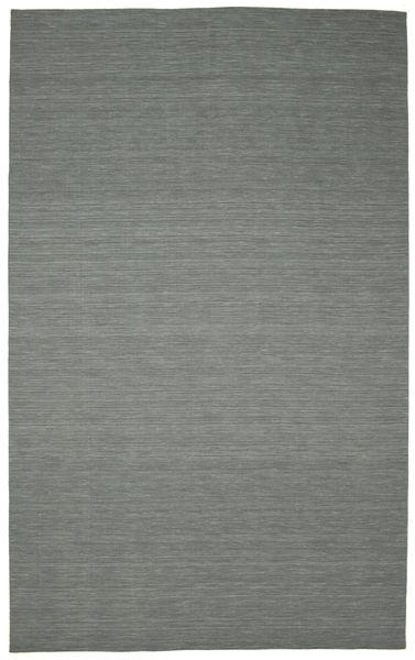 Kilim Loom - Gris Foncé Tapis 300X500 Moderne Tissé À La Main Vert Foncé/Gris Clair Grand (Laine, Inde)