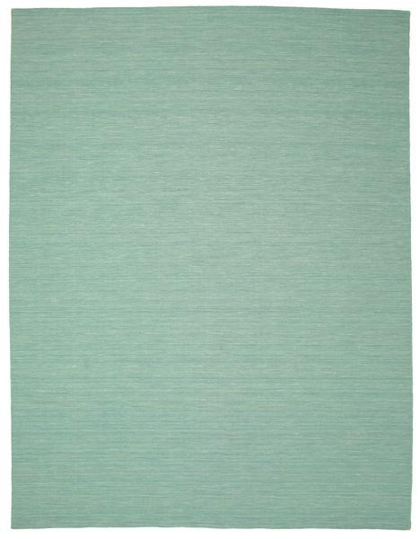 Kilim Loom - Mint Vert Tapis 300X400 Moderne Tissé À La Main Vert Pastel/Bleu Turquoise Grand (Laine, Inde)