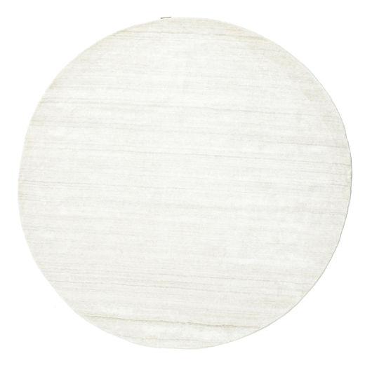 Bambou Soie Loom - Clair Natural Tapis Ø 200 Moderne Rond Beige ( Inde)