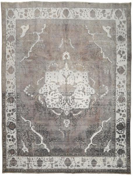 Colored Vintage Tapis 297X393 Moderne Fait Main Gris Clair/Gris Foncé Grand (Laine, Perse/Iran)