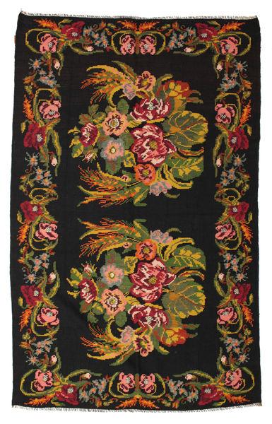Kilim Rose Moldavia Tapis 184X295 D'orient Tissé À La Main Noir/Rouge Foncé (Laine, Moldavie)