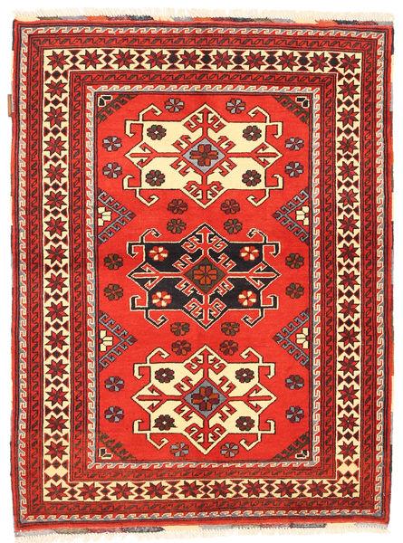 Kazak Tapis 105X142 D'orient Fait Main Rouge Foncé/Rouge (Laine, Pakistan)