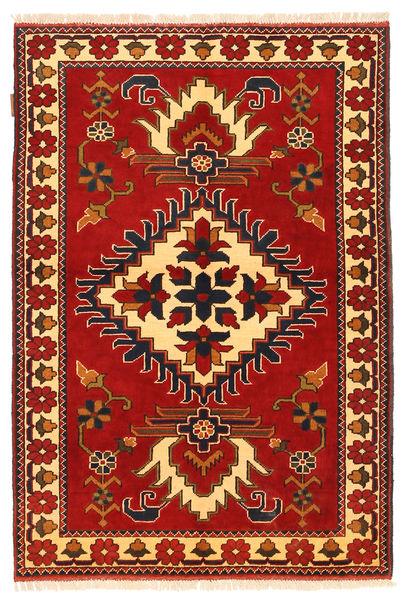 Kazak Tapis 106X158 D'orient Fait Main Rouille/Rouge/Marron Foncé (Laine, Pakistan)