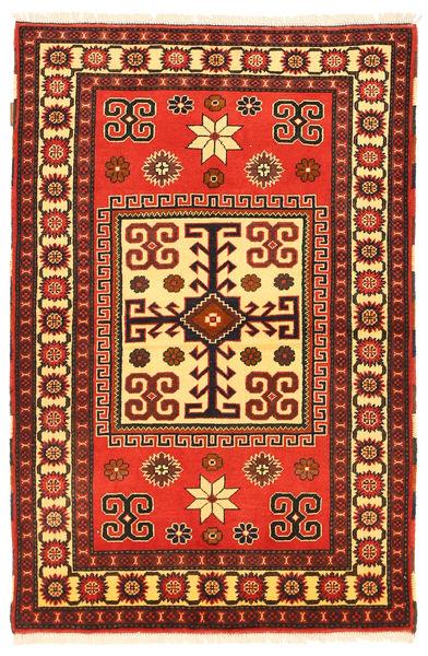Kazak Tapis 103X160 D'orient Fait Main Marron Foncé/Rouge (Laine, Pakistan)