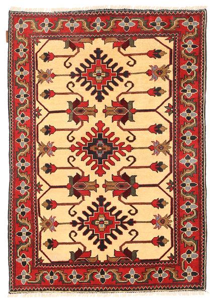 Kazak Tapis 103X153 D'orient Fait Main Rouge Foncé/Marron Clair (Laine, Pakistan)
