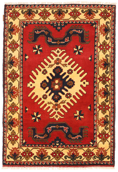 Kazak Tapis 100X149 D'orient Fait Main Rouille/Rouge/Marron Foncé (Laine, Pakistan)