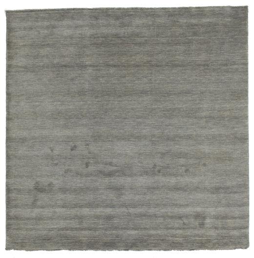 Handloom Fringes - Gris Foncé Tapis 250X250 Moderne Carré Gris Foncé Grand (Laine, Inde)