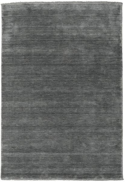 Handloom Fringes - Gris Foncé Tapis 160X230 Moderne Gris Foncé (Laine, Inde)