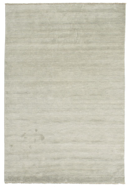 Handloom Fringes - Gris/Vert Clair Tapis 200X300 Moderne Gris Clair/Marron Clair (Laine, Inde)