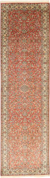 Cachemire Pure Soie Tapis 80X302 D'orient Fait Main Tapis Couloir Marron Clair/Marron (Soie, Inde)