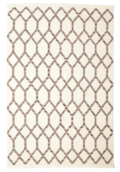 Renzo Tapis 200X300 Moderne Tissé À La Main Beige/Gris Clair (Laine, Inde)