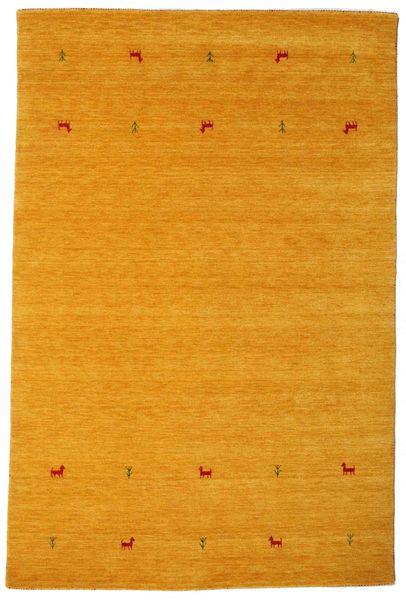 Gabbeh Loom Two Lines - Jaune Tapis 190X290 Moderne Jaune/Marron Clair (Laine, Inde)
