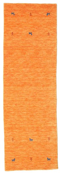 Gabbeh Loom Two Lines - Orange Tapis 80X250 Moderne Tapis Couloir (Laine, Inde)