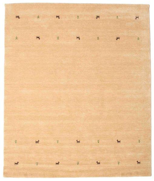 Gabbeh Loom Two Lines - Beige Tapis 240X290 Moderne Beige Foncé/Marron Clair (Laine, Inde)