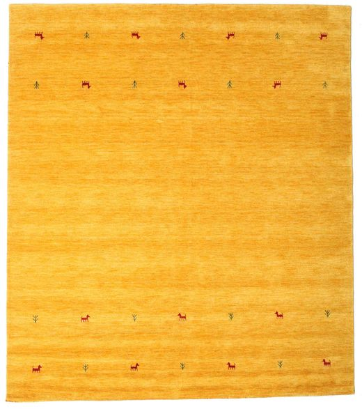 Gabbeh Loom Two Lines - Jaune Tapis 240X290 Moderne Jaune/Orange (Laine, Inde)