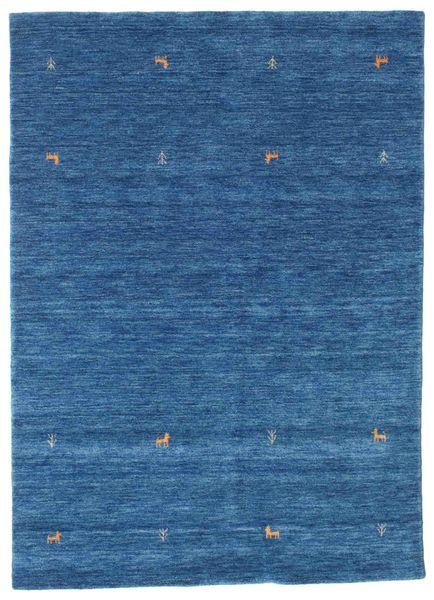 Gabbeh Loom Two Lines - Bleu Tapis 160X230 Moderne Bleu Foncé/Bleu (Laine, Inde)