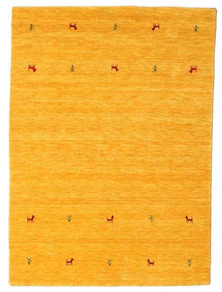 Gabbeh Loom Two Lines - Jaune Tapis 140X200 Moderne Jaune/Orange (Laine, Inde)