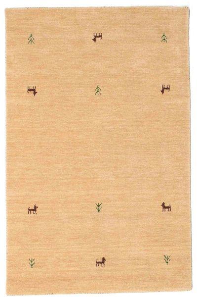 Gabbeh Loom Two Lines - Beige Tapis 100X160 Moderne Beige Foncé/Marron Clair (Laine, Inde)