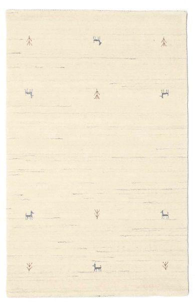 Gabbeh Loom Two Lines - Blanc Écru Tapis 100X160 Moderne Beige (Laine, Inde)
