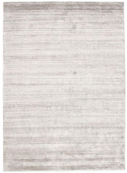Bambou Soie Loom - Warm Gris Tapis 140X200 Moderne Gris Clair ( Inde)
