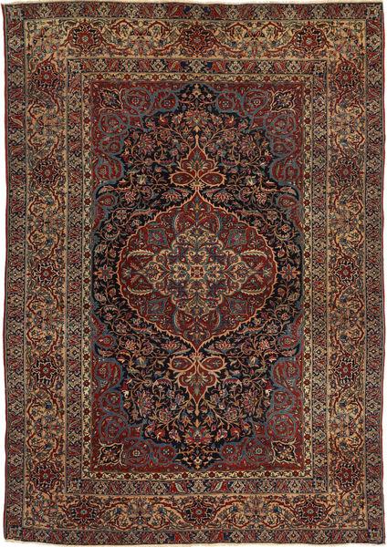 Ispahan Antique Tapis 147X215 D'orient Fait Main Rouge Foncé/Marron Foncé (Laine, Perse/Iran)