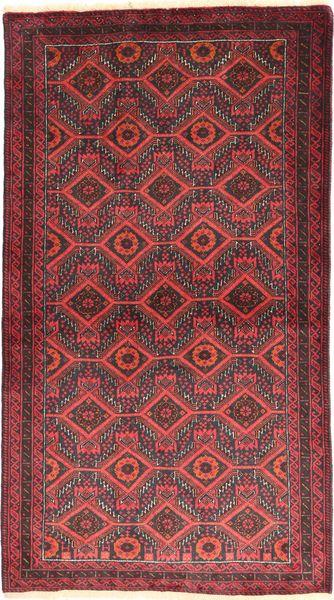 Baloutche Tapis 105X186 D'orient Fait Main Rouge Foncé/Rouille/Rouge (Laine, Perse/Iran)