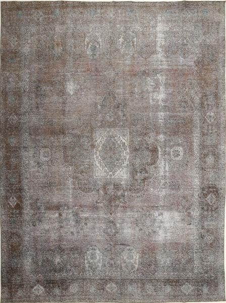 Colored Vintage Tapis 290X389 Moderne Fait Main Gris Clair/Gris Foncé Grand (Laine, Perse/Iran)