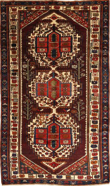 Bakhtiar Tapis 156X280 D'orient Fait Main Marron Foncé/Rouge Foncé (Laine, Perse/Iran)