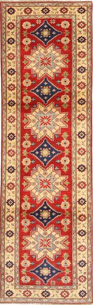 Kazak Tapis 82X293 D'orient Fait Main Tapis Couloir Marron Clair/Rouille/Rouge (Laine, Pakistan)