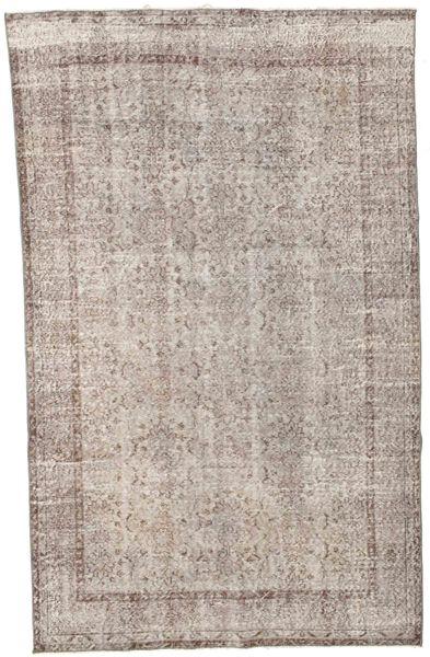 Colored Vintage Tapis 176X278 Moderne Fait Main Gris Clair/Blanc/Crème (Laine, Turquie)