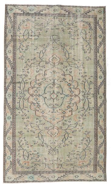 Colored Vintage Tapis 154X263 Moderne Fait Main Gris Clair/Blanc/Crème (Laine, Turquie)