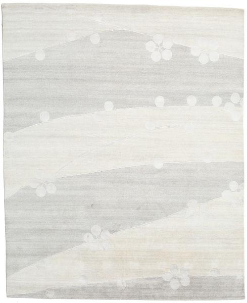 Himalaya Tapis 246X302 Moderne Fait Main Gris Clair/Beige (Laine/Soie De Bambou, Inde)