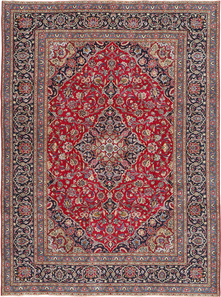 Kashmar Patina Tapis 240X334 D'orient Fait Main Marron Foncé/Gris Clair (Laine, Perse/Iran)