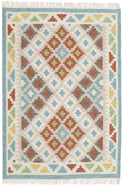 Summer Kilim Tapis 120X180 Moderne Tissé À La Main Gris Clair/Beige Foncé (Laine, Inde)