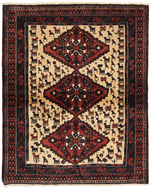 Shiraz Tapis 114X140 D'orient Fait Main Noir/Rouge Foncé (Laine, Perse/Iran)