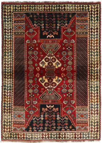 Ghashghaï Tapis 115X160 D'orient Fait Main Marron Foncé/Rouge Foncé (Laine, Perse/Iran)