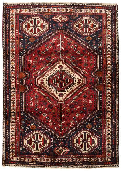 Ghashghaï Tapis 117X165 D'orient Fait Main Rouge Foncé/Marron Foncé (Laine, Perse/Iran)