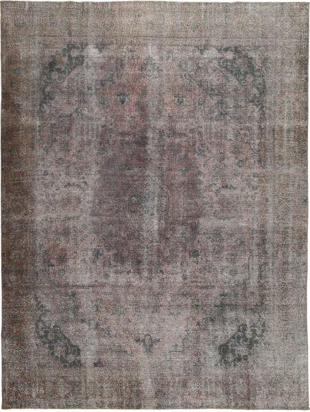 Colored Vintage Tapis 283X393 Moderne Fait Main Gris Foncé/Gris Clair Grand (Laine, Pakistan)