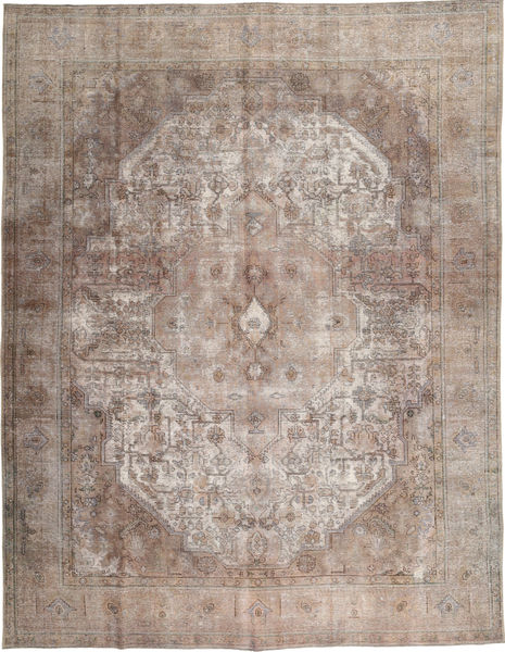 Colored Vintage Tapis 297X383 Moderne Fait Main Gris Clair Grand (Laine, Pakistan)