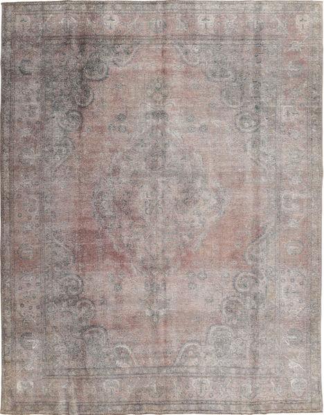 Colored Vintage Tapis 290X374 Moderne Fait Main Gris Clair/Gris Foncé Grand (Laine, Pakistan)