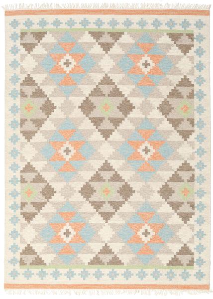 Summer Kilim Tapis 210X290 Moderne Tissé À La Main Beige/Gris Clair (Laine, Inde)