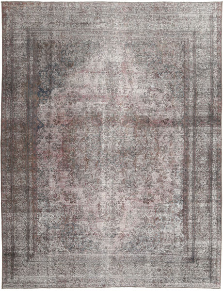 Colored Vintage Tapis 296X377 Moderne Fait Main Gris Clair/Marron Foncé Grand (Laine, Pakistan)