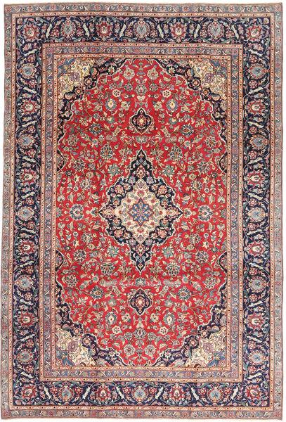 Kashan Patina Tapis 240X355 D'orient Fait Main Rouille/Rouge/Gris Clair (Laine, Perse/Iran)