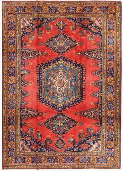 Wiss Tapis 214X336 D'orient Fait Main Rouge Foncé/Marron (Laine, Perse/Iran)