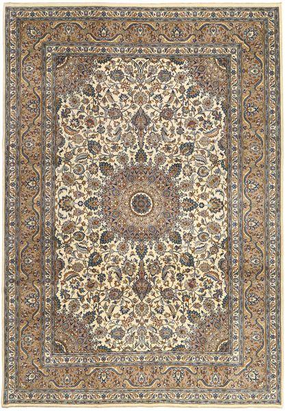 Kashan Patina Tapis 242X347 D'orient Fait Main Gris Clair/Marron Clair (Laine, Perse/Iran)