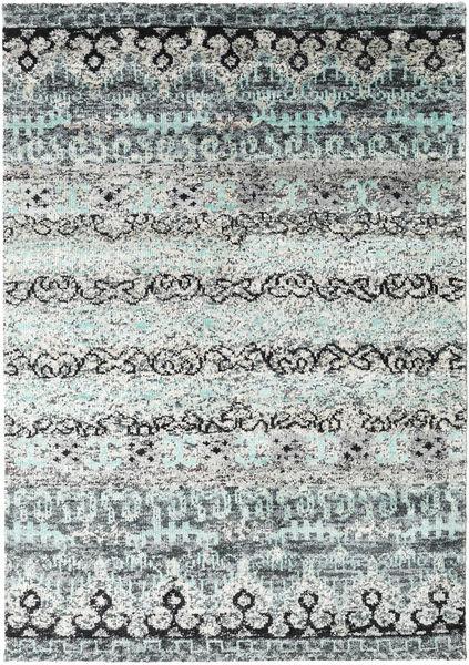 Quito - Gris Tapis 160X230 Moderne Fait Main Gris Clair/Blanc/Crème (Soie, Inde)