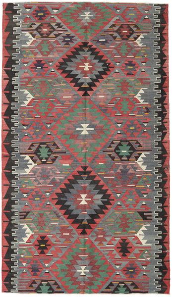 Kilim Turquie Tapis 166X290 D'orient Tissé À La Main Gris Clair/Rouge Foncé (Laine, Turquie)